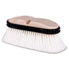 Truck Wash Brush, O Handle, Flagged, White, 9-1/2