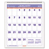 Mini Monthly Wall Calendar, 6-1/2&quot; x 7-1/2&quot;, White, 2013