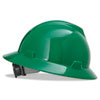 MSA V-Gard Hard Hats, Fas-Trac Ratchet Suspension, Size 6 1/2 - 8, Green