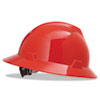 MSA V-Gard Hard Hats, Fas-Trac Ratchet Suspension, Size 6 1/2 - 8, Red