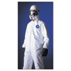 Tyvek Elastic-Cuff Hooded Coveralls, HD Polyethylene, White, Size Large