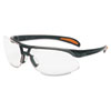 Protege Safety Eyewear, Metallic Black Frame, Clear Lens