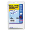 Print or Write File Folder Labels, 11/16 x 3-7/16, White/Dark Blue Bar, 252/Pack