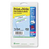 Avery Print or Write File Folder Labels, 11/16 x 3-7/16, White/Green Bar, 252/Pack