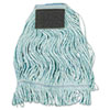Mop Head, Loop-End, Cotton With Scrub Pad, Medium