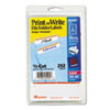 Print or Write File Folder Labels, 11/16 x 3-7/16, White/Orange Bar, 252/Pack