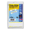 Print or Write File Folder Labels, 11/16 x 3-7/16, White/Yellow Bar, 252/Pack