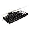 "Easy Adjust Keyboard Tray, Standard Platform, 17-3/4"" Track, Black"