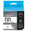 "LabelWorks Standard LC Tape Cartridge, 3/4"", Black on White"