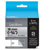 "LabelWorks Clear LC Tape Cartridge, 3/4"", Black on Clear"