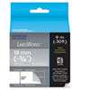 "LabelWorks Clear LC Tape Cartridge, 3/4"", White on Clear"
