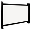 PS05B Portable Projection Screen, 26&quot;, White/Black