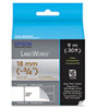 "LabelWorks Clear LC Tape Cartridge, 3/4"", Gold on Clear"