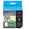 "LabelWorks Glow-In-The-Dark LC Tape Cartridge, 3/4"", Black"