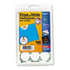 Print or Write Mailing Seals, 1in dia., White, 600/Pack