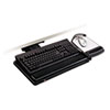 "Positive Locking Keyboard Tray, Highly Adjustable Platform, 17-3/4"" Track, Black"