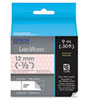 "LabelWorks Standard LC Tape Cartridge, 1/2"", Gray on Pink/White Polka Dot"