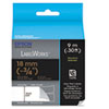 "LabelWorks Standard LC Tape Cartridge, 1/2"", Gray on Blue Check"