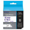 "LabelWorks Standard LC Tape Cartridge, 1/2"", Blue on White"