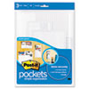 Self-Stick Wall Pockets, Clear Dots, Assorted Sizes, 3 per Pack
