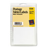 Permanent Adhesive Postage Meter Labels, 1-1/2 x 2-3/4, White, 160/Pack