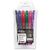Pilot FriXion Point Erasable Gel Pen, Needle, 0.5mm Extra Fine, Assorted, 6/Pk