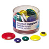 Assorted Magnets, Circles, Assorted Sizes and Colors, 30 per Tub