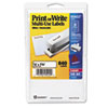 Print or Write Removable Multi-Use Labels, 1/2 x 1-3/4, White, 840/Pack
