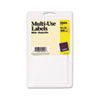 Self-Adhesive Removable Multi-Use Labels, 5/8 x 7/8, White, 1000/Pack