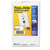 Print or Write Removable Multi-Use Labels, 3/4 x 1-1/2, White, 504/Pack