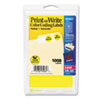 Print or Write Removable Color-Coding Labels, 3/4in dia, Yellow, 1008/Pack
