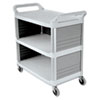 Xtra Utility Cart, 300-lb Cap., 3 Shelves, 20w x 40d 5/8 x 37 4/5h, Off-White