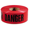 Danger Barricade Tape, 3 in x 1000 ft
