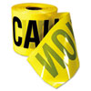 "Safety Barricade Caution Tape, 3"" x 200ft, Yellow w/Black Print"