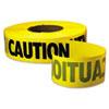 "Empire Caution Barricade Tape, 3"" x 1000ft, Yellow/Black"