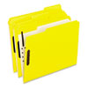 Pendaflex Reinforced Top Fastener Folders, 1/3 Cut, Letter, Yellow, 50/Box