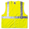 GloWear Class 2 Standard Vest, Lime, Mesh, Zip