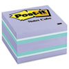 Post-it Notes Cube, 3 x 3, Blue Ice, 490 Sheets