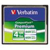 Verbatim Premium CompactFlash Memory Card, 4GB