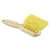 "Polypropylene Bristle Utility Brush, 8 1/2"", Tan Handle"