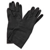 Neoprene Flock-Lined Gloves, Long-Sleeved, Medium, Black, 12 Pairs