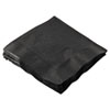 Hoffmaster Cocktail Napkins, 2-Ply, 10 x 10, Black, 1000/Carton