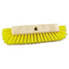 "Dual-Surface Scrub Brush, Plastic Fill, 10"" Long, Yellow Handle"