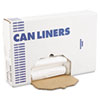 Boardwalk High-Density Can Liners, 30 x 35, 30gal, 8 Micron, Natural, 25/Roll, 20 Rolls/CT