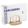 High-Density Can Liners, 38 x 58, 60-Gal, 14 Micron Equivalent, Clear, 25/Roll