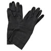 Neoprene Flock-Lined Gloves, Long-Sleeved, Large, Black, 12 Pairs