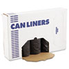 Low-Density Can Liners, 60gal, .65mil, 38 x 58, Black, 25/Roll, 4 Rolls/Carton