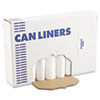 Boardwalk EH-Grade Can Liners, 24 x 32, 16gal, .4mil, White, 25/Roll, 20 Rolls/Carton
