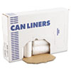 High-Density Can Liners, 43 x 47, 56-Gal, 17 Micron Equivalent, Clear, 25/Roll