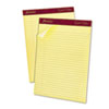 Ampad Gold Fibre Ruled Pad, Legal/Legal Rule, Ltr, Canary, 50-Sheet Pads/Pack, Dozen